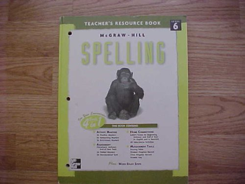 9780022442484: McGraw-Hill Spelling Teacher's Resource Book Level 6