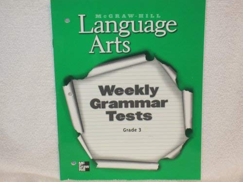9780022447502: Language Arts Weekly Grammar Tests Grade 3