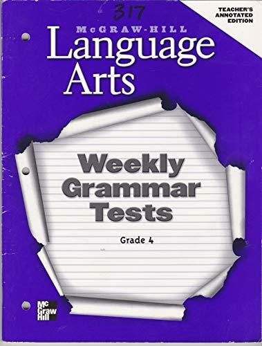 9780022447571: Weekly Grammar Test Teacher's Annotated Edition : Assessment
