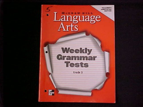 9780022447588: Language Arts - Weekly Grammar Tests - Grade 5 - Teacher's Annotated Edition