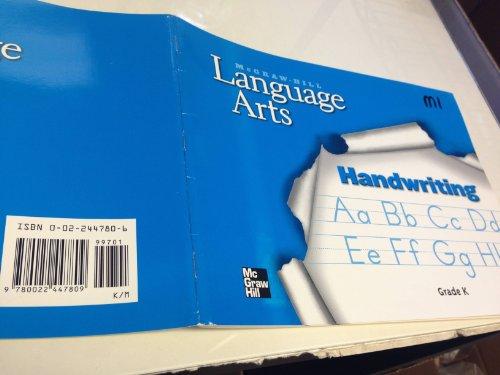 9780022447809: McGraw-Hill Language arts, Handwriting Grade K