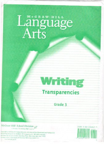9780022448172: Writing Transparencies Grade 3 (McGraw-Hill Language Arts)