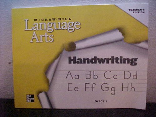 9780022450892: McGraw-Hill Language Arts Teacher's Edition Handwriting Grade 1