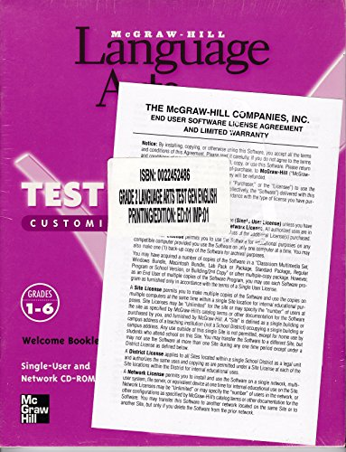 Language Arts, Grade 2: Test Generator Customized Computer Testing Package With CD-ROM (2001 ...