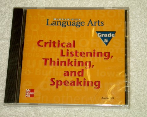 9780022453190: McGRAW-HILL Language Arts (Critical Listening Thinking and Speaking Grade 5)
