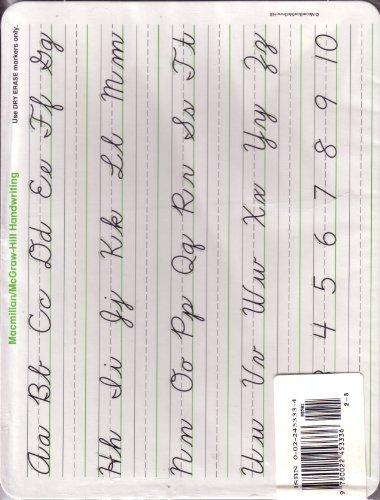 9780022453336: Cursive Handwriting Board, Gr 2-3