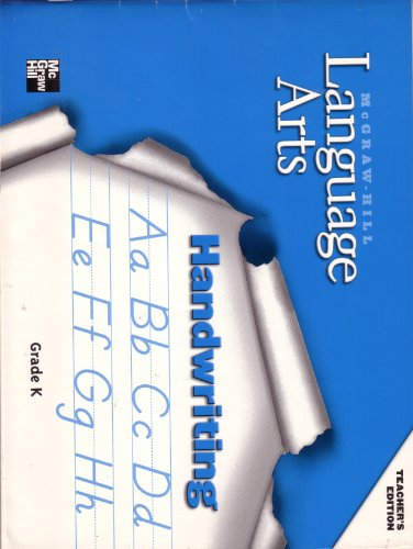 9780022454777: Language Arts Handwriting Grade K Teacher's Edition