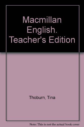 9780022456801: Macmillan English. Teacher's Edition