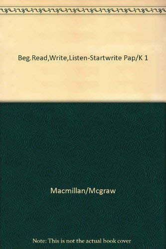 9780022645403: Beginning To Read Write And Listen: Startwrite Paper
