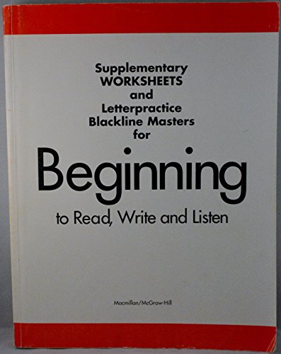 9780022645809: Supplementary Worksheets and Letterpractice Blackline Masters for Beginning to Read, Write and Listen