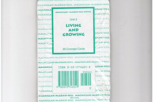 9780022746049: Unit 3 Living and Growing 20 Concept Cards Macmillan Mcgraw-hill Science