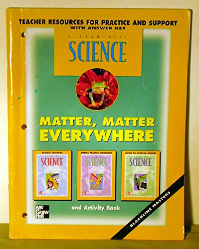 9780022776169: Matter, Matter Everywhere - Teacher Resources for Practice and Support, with Answer Key (Science)