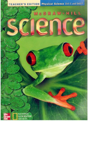 9780022805074: Teacher's Edition Physical Science Unit E and F (McGraw-Hill Science Grade 2)