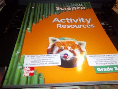 9780022810603: Science Activity Resources Teacher Edition Grade 3