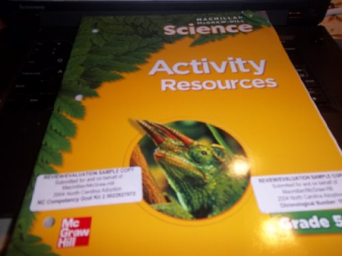 9780022810627: Science Activity Resources Teacher Edition Grade 5