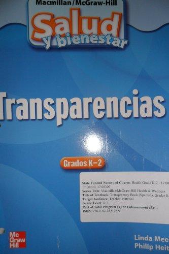 9780022821289: Health & Wellness Transparency Book (Spanish) Grades K-2 (Salud y bienestar Transparencias Grados K-2)