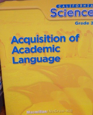 9780022835675: Acquisition of Academic Language Grade 3 (California Science)