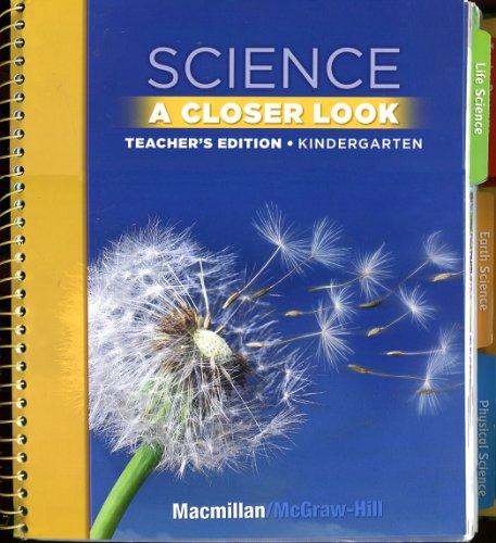9780022841973: Science A Closer Look: Kindergarten [Teacher's Edition]