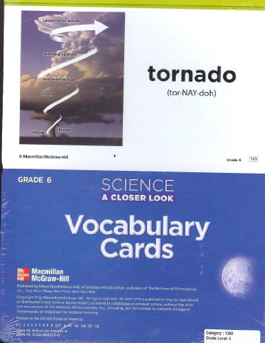 Science A Closer Look Vocabulary Cards, Grade 6 (Science A Closer Look, Set of Science Vocabulary ...