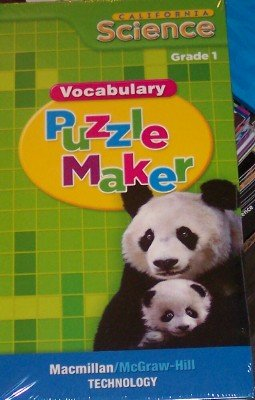 9780022848873: California Science: Vocabulary Puzzle Maker Grade 1