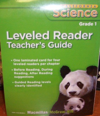 9780022849818: Leveled Reader Grade 1 (Teacher's Guide, California Science)