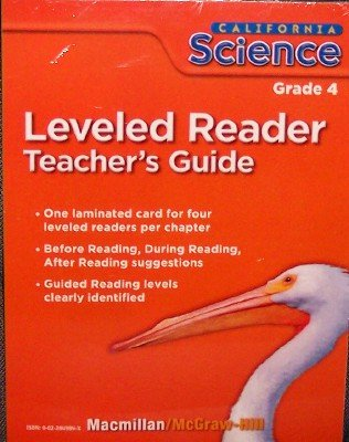 9780022849849: Leveled Reader, Grade 4 (California Science, Teacher's Guide)