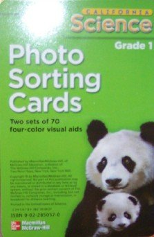 9780022850579: California Science Photo Sorting Cards Grade 1