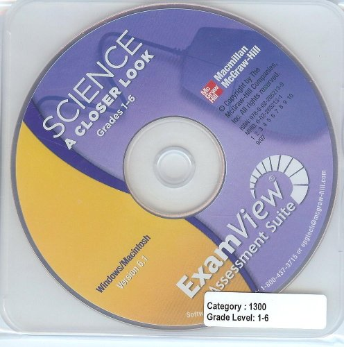 9780022852139: Science A Closer Look: ExamView Assessment Suite, Grades 1-6 (For Windows / Macinstosh, Version 7.1)