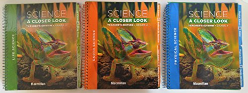 9780022886479: Science A Closer Look, Grade 4, Teacher's Edition, Macmillan/McGraw Hill, Three Volume set
