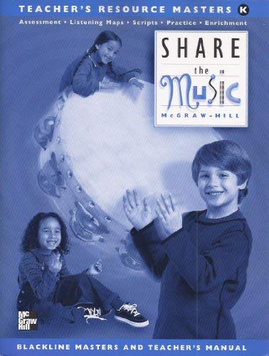 9780022954222: Share the Music Level K Teacher's Resource Masters
