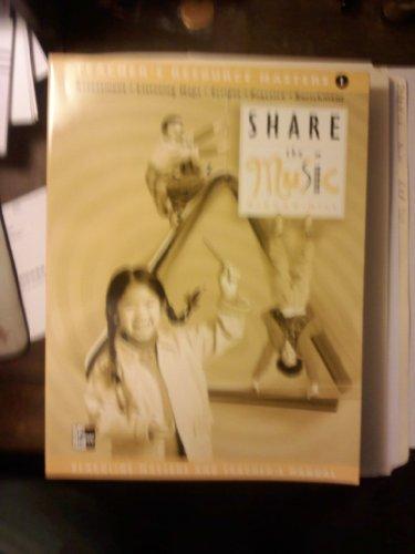 9780022954239: Share the Music: Teacher's Resource Masters, Grade 1