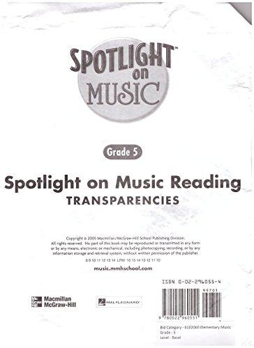 9780022960551: Spotlight on Music (Spotlight on Reading Transparencies, Grade 5) [Paperback]...
