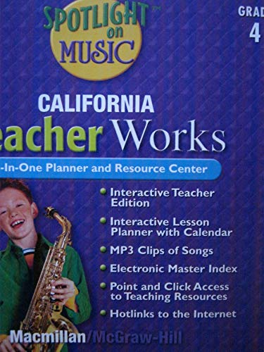 9780022964054: Spotlight on Music CA TeacherWorks CD Grade 4