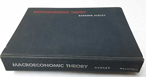 9780023002809: Macroeconomic Theory