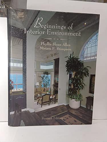 9780023018213: Beginnings of Interior Environment