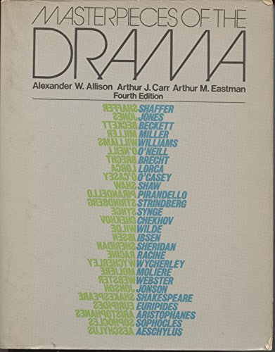 9780023019104: Masterpieces of the drama