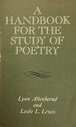 9780023019302: Handbook for the Study of Poetry