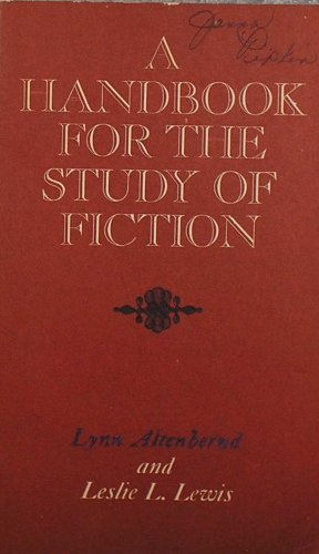 9780023019500: Handbook for the Study of Fiction