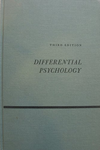 9780023028007: Differential Psychology: Individual and Group Differences in Behavior