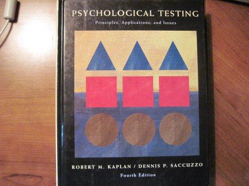 9780023029806: Psychological Testing