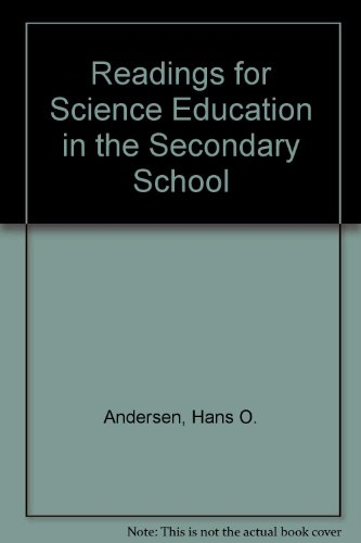 9780023031601: Readings for Science Education in the Secondary School