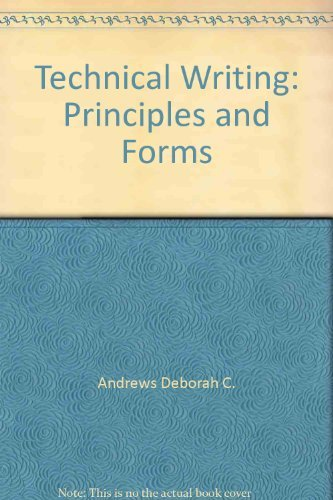 9780023034503: Technical writing: Principles and forms