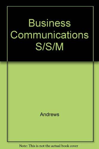 9780023035517: Business Communications S/S/M