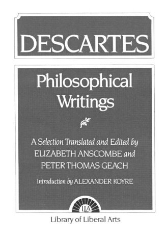 9780023036002: Philosophical Writings: Descartes
