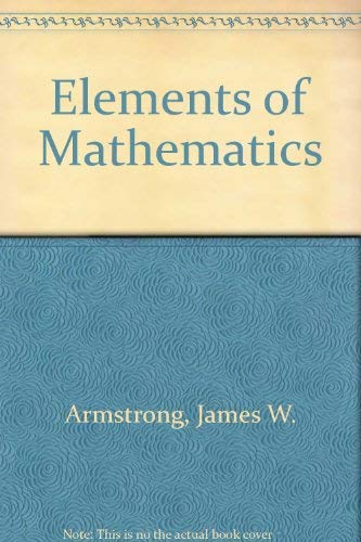 9780023039102: Elements of Mathematics