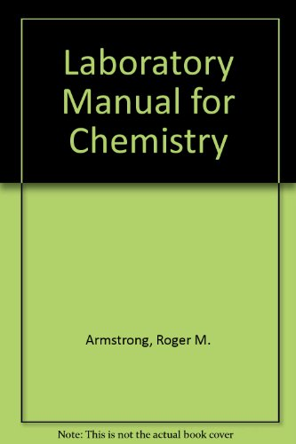 9780023039201: Laboratory Manual for Chemistry