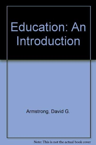 9780023040504: Education: An Introduction