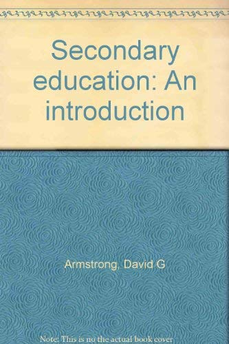 9780023040702: Secondary education: An introduction