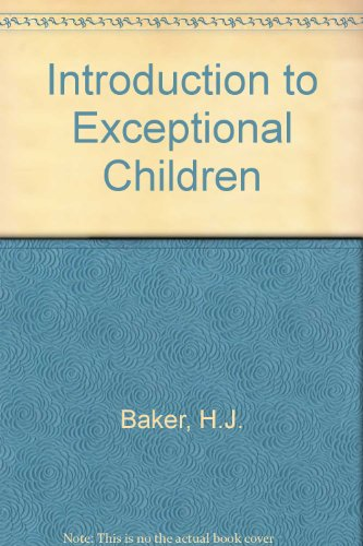9780023053900: Introduction to Exceptional Children