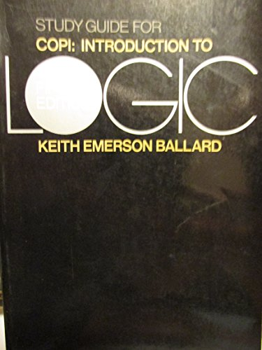 9780023055201: Introduction to Logic: Study Guide